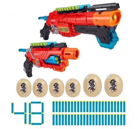 Zuru X-Shot Dino Attack Ultimate Dino Attack Combo (2x Blasters, 48 Darts, 6 Eggs) , 8Y+