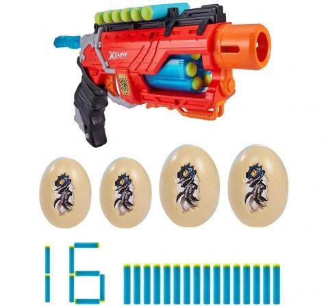 Zuru X-Shot Dino Attack Dino Striker Foam Dart Blaster (16 Darts, 4 Eggs) , 8Y+