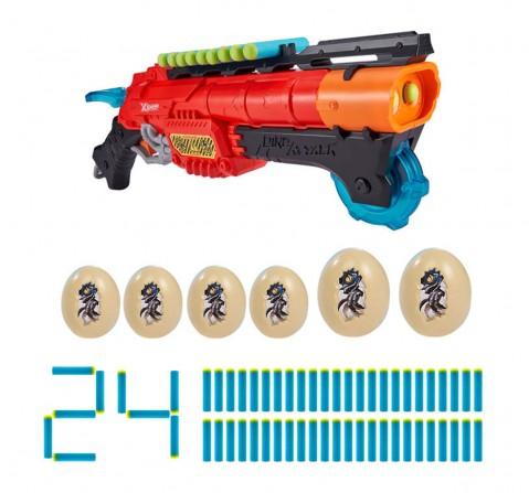 Zuru X-Shot Dino Attack Claw Hunter Foam Dart Blaster (24 Darts, 6 Eggs) , 8Y+