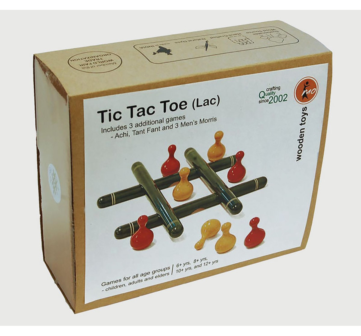 Fairkraft Creations Handmade Wooden Tic Tac Toe Toy Wooden Toys for Kids age 5Y+