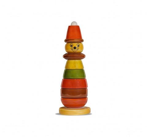 Folktales Handmade Wooden Bibbo Toy 2 Wooden Toys for Kids age 1Y+ (Brown)