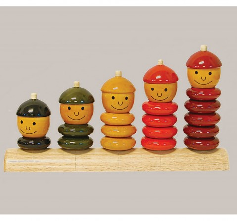 Fairkraft Creations Handmade Wooden Peppy Five Toy Wooden Toys for Kids age 3Y+