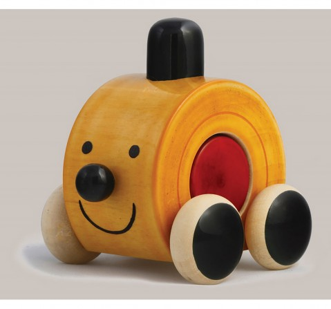 Fairkraft Creations Handmade Wooden Moee Push Toy 1 Wooden Toys for Kids age 1Y+ (Red)