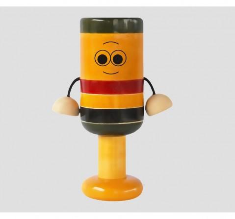 Fairkraft Creations Handmade Wooden Bell Rattle 1 Wooden Toys for Kids age 0M+