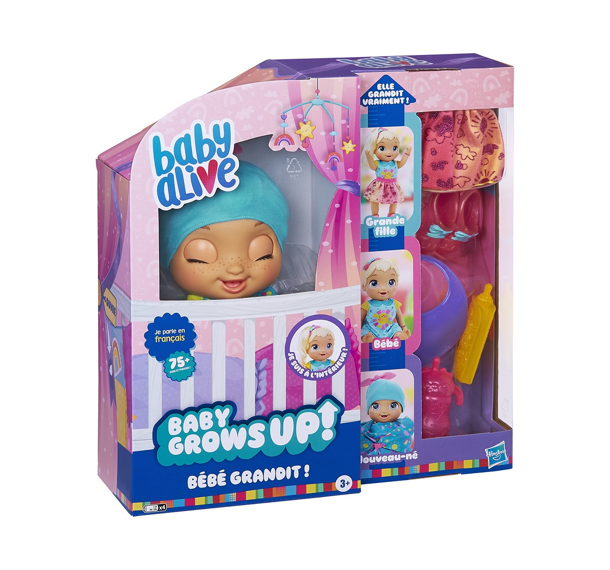 Baby Alive Baby Grows Up (Happy) - Happy Hope or Merry Meadow, Growing and Talking Baby Doll Toy with Surprise Accessories  Dolls & Accessories for GIRLS age 3Y+