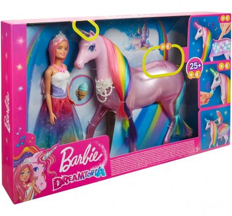 Barbie Dreamtopia Magical Lights Unicorn Princess Doll, Dolls & Accessories for Girls age 3Y+ (Multicolor)