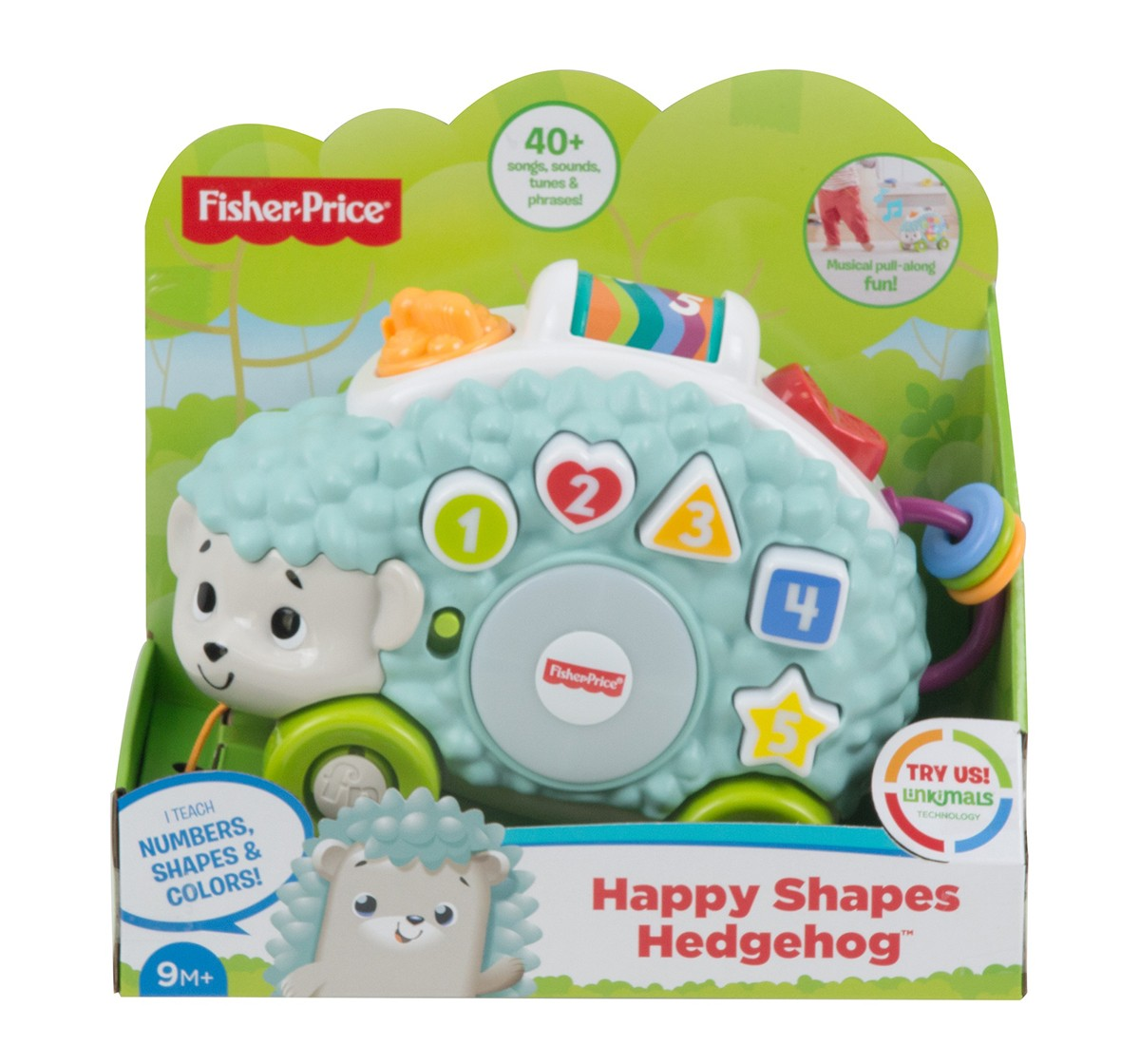 Fisher-Price Linkimals Happy Shapes Hedgehog, Learning Toys for Kids age 9M+