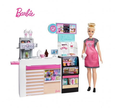 Barbie Coffee Shop & Doll, Dolls & Accessories for Girls age 3Y+