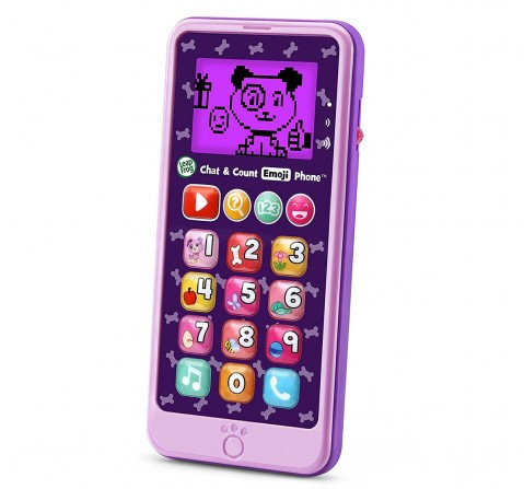 Leap Frog CHAT & COUNT EMOJI PHONE PURPLE Learning Toys for Kids age 18M +