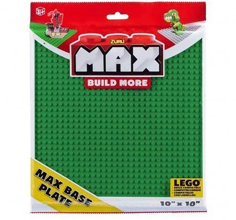 Zuru Max Build More Base Plate - Green & Grey - Color May Vary Generic Blocks for Kids age 3Y+
