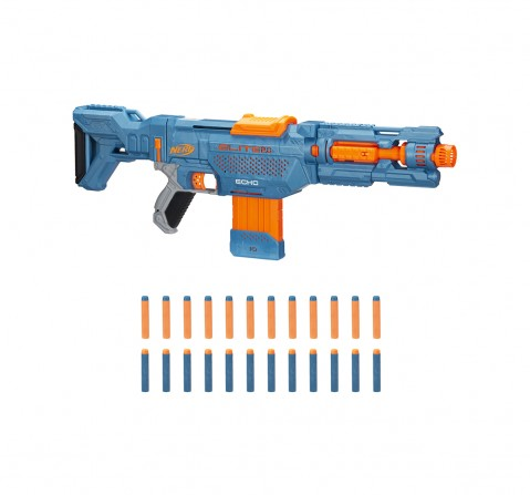 Nerf Elite 2.0 Echo CS-10 Blaster -- 24 Official Nerf Darts, 10-Dart Clip, Removable Stock and Barrel Extension, 5 Tactical Rails Blasters for BOYS age 8Y+