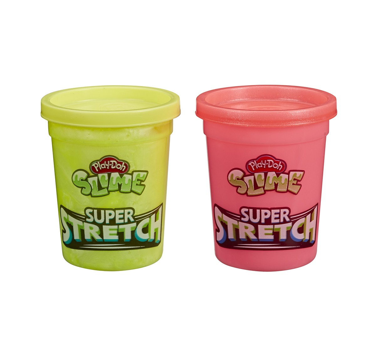 Play-Doh Slime Super Stretch 2-Pack Assorted for Kids 3 Years and Up - Yellow and Red Sand, Slime & Others for Kids age 3Y+