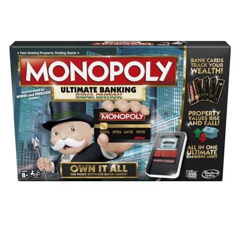 Monopoly Game Ultimate Banking Edition, Unisex, 7Y+ (Multicolor)