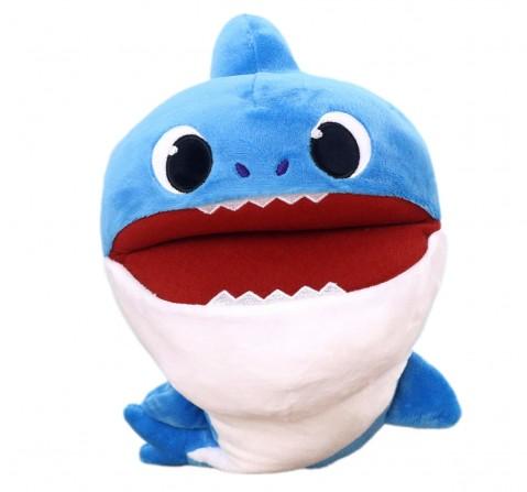 Baby Shark Daddy Shark Puppet 27 Cm, 0M+ (Blue)