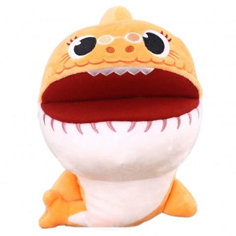 Baby Shark Grandma Shark Puppet 27 Cm, 0M+ (Orange)