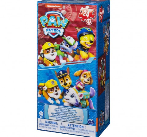 Cardinal Games Paw Patrol Lenticular Tower Box 2 Puzzles Quirky Soft Toys for Kids age 3Y+ - 20 Cm
