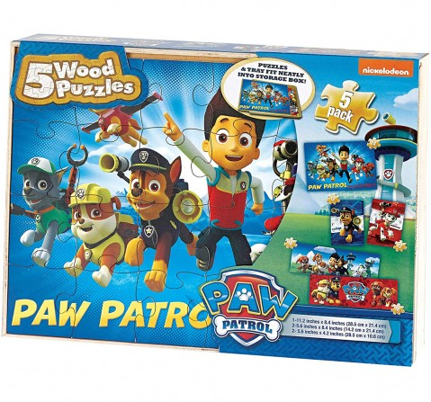 Cardinal Games Paw Patrol 4 Wood Puzzles Quirky Soft Toys for Kids age 3Y+ - 23 Cm