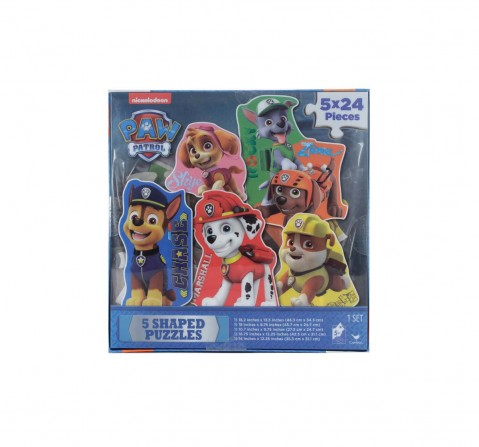 Cardinal Games Paw Patrol 5 Shaped Puzzles Puzzles for Kids Age 3Y+