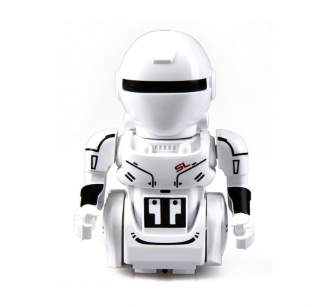Silverlit YCOO Mini Robot - OP One A Palm size Remote Control Robot with LED Eyes & Robotic sound SFX!  Robotics for Kids age 3Y+ (White)