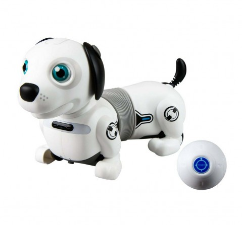 Silverlit Ycoo Robo Dackel Jr Ls An Interactive Robotic Puppy With Gesture Control Remote Included for Kids Age 5Y+ (White)