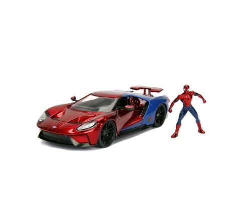 Jada Marvel Spiderman 2017 Ford GT 1:24 Vehicles for Kids age 8Y+