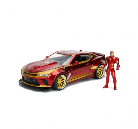 Jada Marvel Ironman 2016 Chevy Camaro SS 1:24 Vehicles for Kids age 8Y+ (Red)