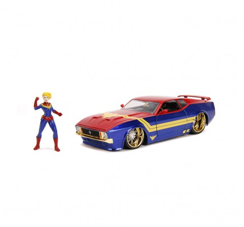 Jada Marvel 1:24 1973 Ford Mustang Mach1 W CM Fig Vehicles for Kids age 8Y+