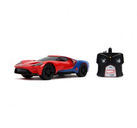 Jada Marvel Spider-Man RC 2017 Ford GT 1:16 Remote Control Toys for Kids age 6Y+