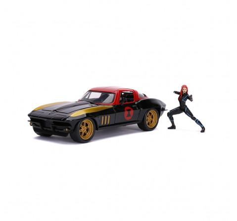 Jada Marvel Black Widow 1966 Chevy 1:24 Vehicles for Kids age 8Y+