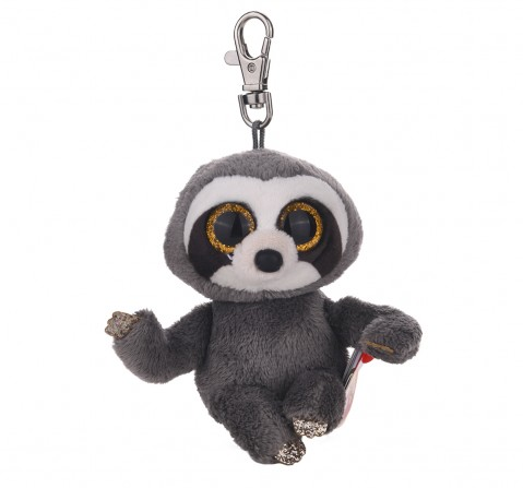 Ty Beanie Boos Dangler - grey sloth clip Plush Accessories for Kids age 3Y+ - 8.5 Cm