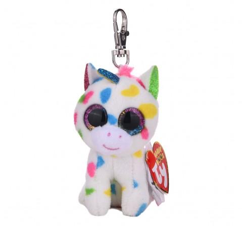 Ty Beanie Boos Harmonie - speckled unicorn clip Plush Accessories for Kids age 3Y+ - 8.5 Cm