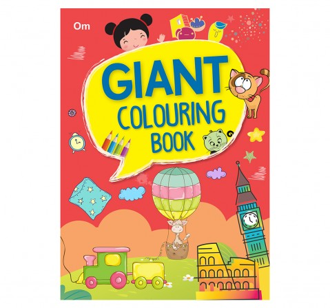 Colouring Book : Giant Colouring Book For Kids, 368 Pages Book By Om Books Editorial Team, Paperback