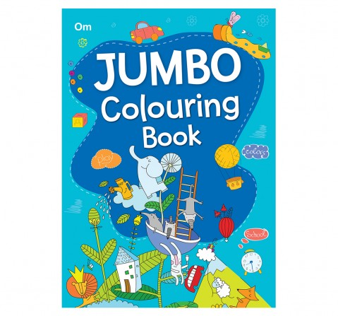 Colouring Book : Jumbo Colouring Book For Kids, 368 Pages Book By Om Books Editorial Team, Paperback