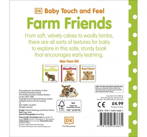 Baby Touch & Feel Farm Friends, 208 Pages Book by DK Children, Hardback