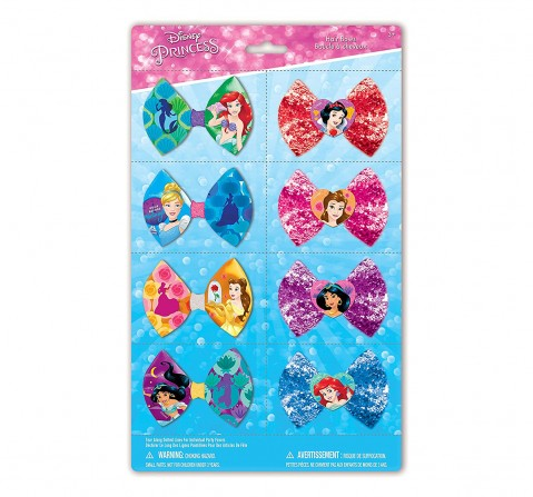 Townley Girl Disney Princess8 PK Bows Party Packs  Toileteries and Makeup for Girls age 3Y+