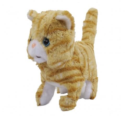 Hamleys Movers & Shakers Scottish Fold Plush Soft Cat Toy(Gold), 3Y+