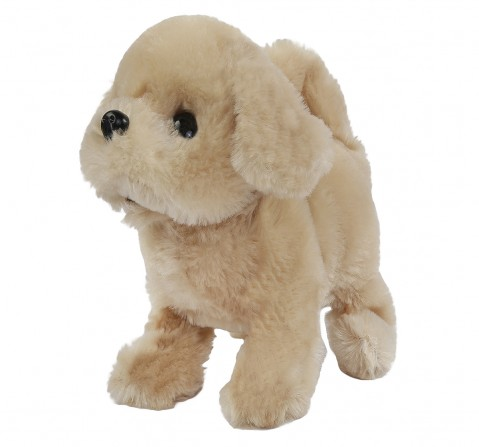 Hamleys Movers & Shakers Retriever Plush Soft Dog Toy(Brown), 3Y+