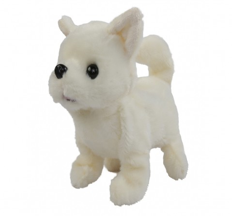 Hamleys Movers & Shakers Chihuahua Plush Soft Dog Toy (White), 3Y+