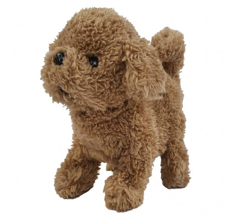 Hamleys Movers & Shakers Baby Cairn Terrier Plush Soft Dog Toy (Brown), 3Y+