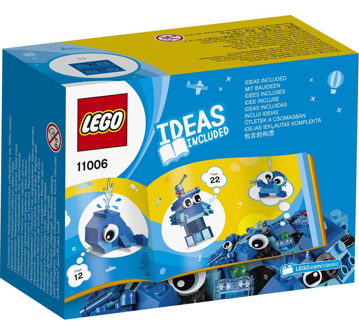 LEGO 11006 Creative Blue Bricks Lego Blocks for Kids age 4Y+
