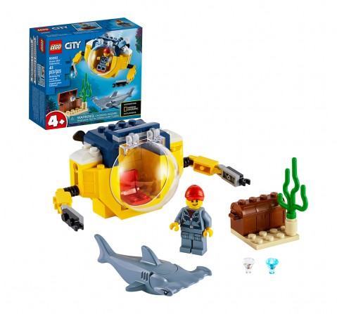 LEGO 60263 Ocean Mini-Submarine Lego Blocks for Kids age 4Y+