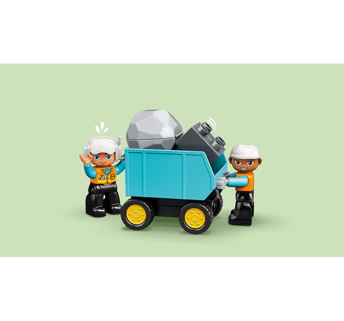 LEGO 10931 Truck & Tracked Excavator Lego Blocks for Kids age 2Y+