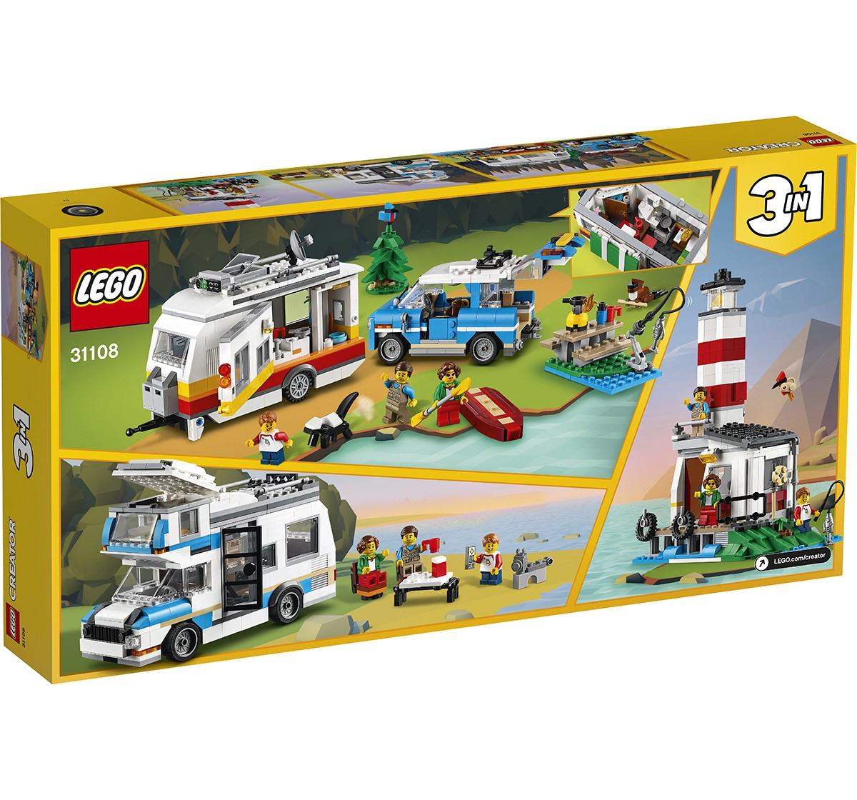 LEGO Caravan Family Holiday Lego Blocks for Kids age 8Y+