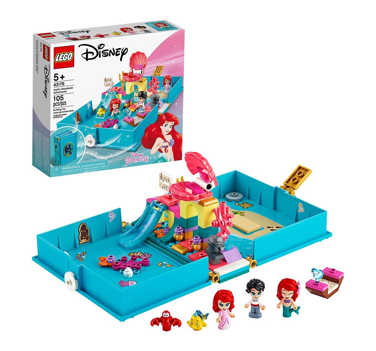 LEGO 43176 Ariel's Storybook Adventures Lego Blocks for Girls age 5Y+