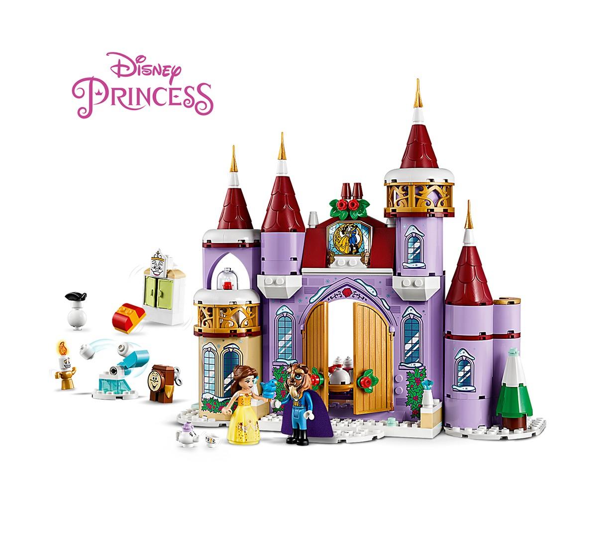 LEGO 43180 Belle's Castle Winter Celebration Lego Blocks for Girls age 4Y+