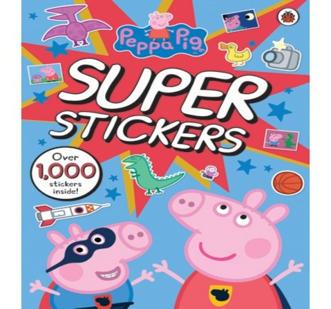 Peppa Pig Super Stickers Activity Book, 64 Pages Book by Ladybird, Paperback