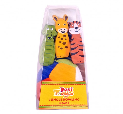 Desi Toys Jungle Bowling Game for Kids age 3Y+ - 4.3 Cm