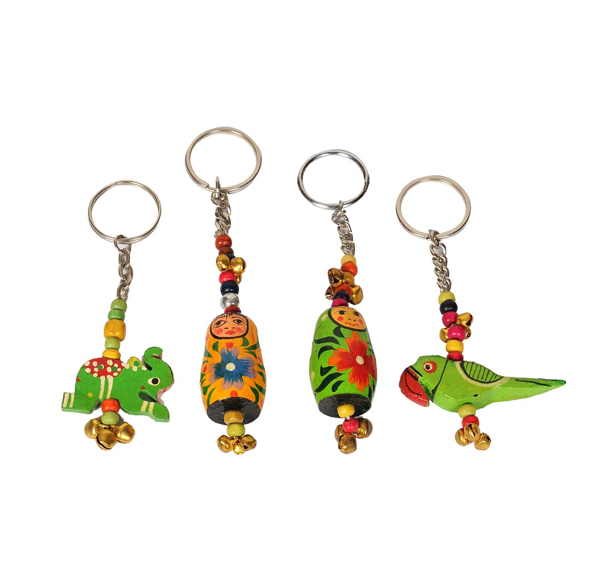 Craft & Culture Wooden Keychain Set of 2  for Kids age 3Y+