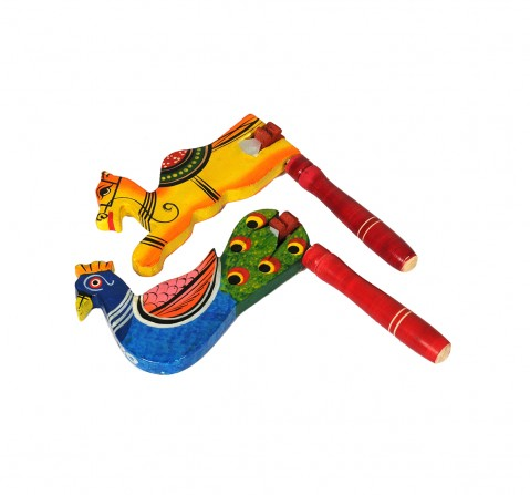 Craft & Culture Wooden Revolving Rattle for Kids age 0M+ - 14 Cm