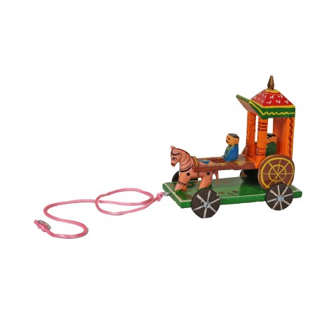 Craft & Culture Wooden Rath Handpainted Assorted Quirky Soft Toy for Kids age 3Y+ - 12 Cm